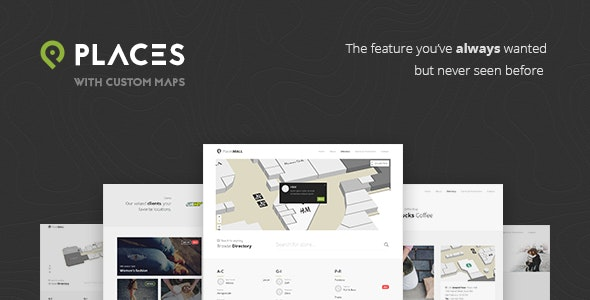 Places - Custom Interactive Map HTML5 Template - Corporate Site Templates