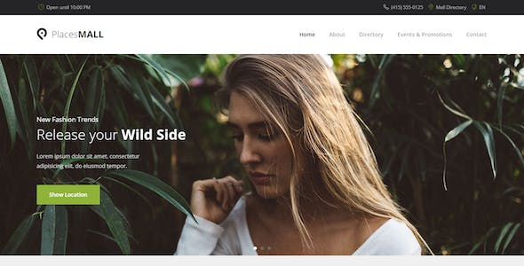 Places - Custom Interactive Map HTML5 Template