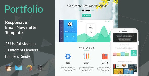 Portfolio - Multipurpose Responsive Email Template - Email Templates Marketing