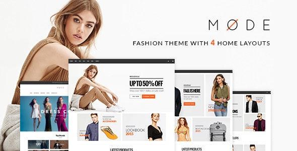 Mode - Modern Fashion WooCommerce WordPress Theme - WooCommerce eCommerce