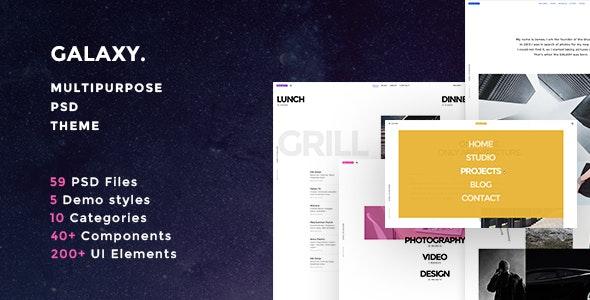 Galaxy Multipurpose PSD Theme - Creative PSD Templates