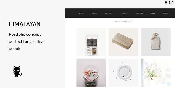 Himalayan - Modern Portfolio WordPress Theme - Portfolio Creative