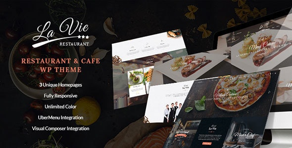 Lavie Restaurant - Bar & Cafe Responsive WordPress Theme - Restaurants & Cafes Entertainment