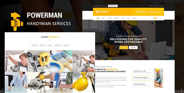 POWERMAN - Handyman Services Drupal 7 Theme - Business Corporate