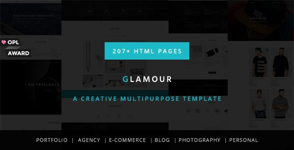 Glamour - Multipurpose OnePage & MultiPage Template - Creative Site Templates