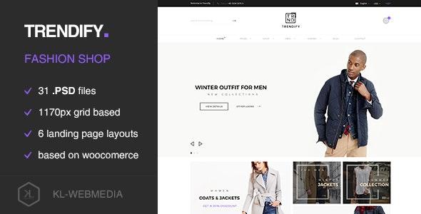 Trendify - Fashion eCommerce PSD template - Fashion Retail