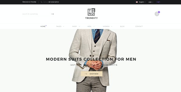 Trendify - Fashion eCommerce PSD template