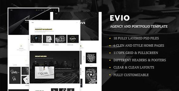 Evio - Agency and Portfolio Template - Portfolio Creative