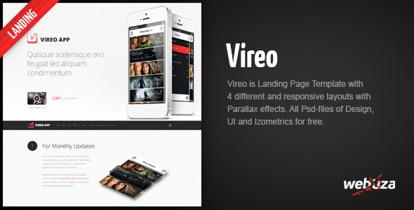 Vireo - Ultra Responsive App Landing Page - Apps Technology
