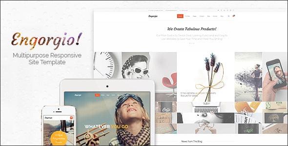 Engorgio | Web Design Agency Responsive Site Template - Portfolio Creative