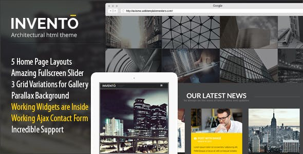 Invento   Architecture Building Agency Template