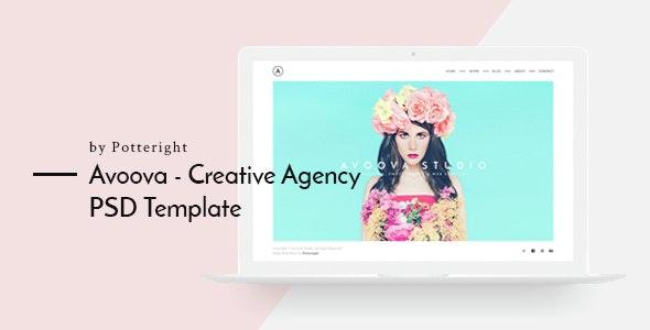 Avoova -  Creative Agency - Creative PSD Templates