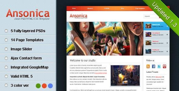 Ansonica - Clean & Modern HTML Template - Portfolio Creative