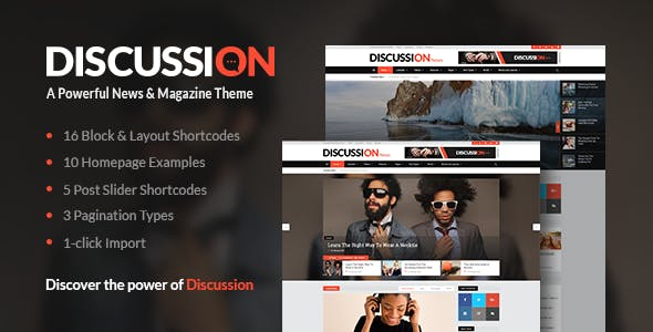 Discussion - News Portal Theme
