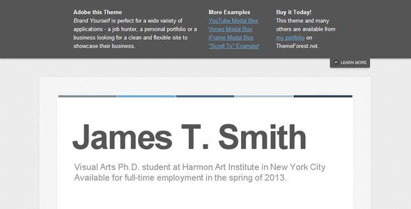 Iframe HTML Website Templates from ThemeForest