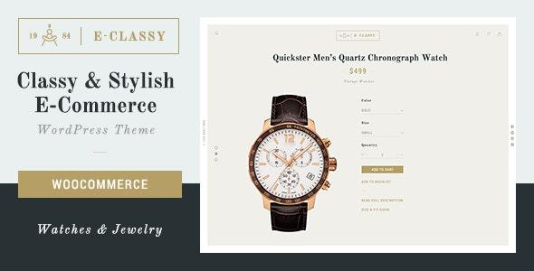 eClassy - eCommerce Classy Pro WordPress Theme - WooCommerce eCommerce