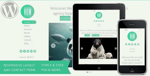 View - 2 in 1 WordPress Responsive Themes  - Portfolio Creative