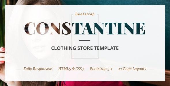 Constantine - Fashion Clothes Shop HTML Template - Fashion Retail