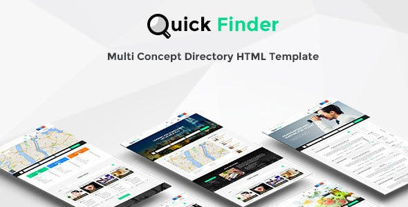 QuickFinder - Directory & Listings Template (Multi-Industry)