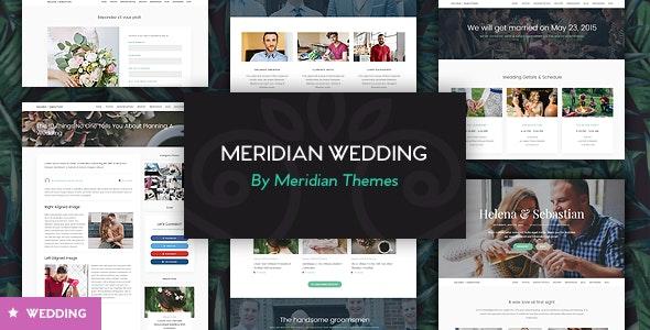 Meridian Wedding - Responsive WordPress Theme - Wedding WordPress