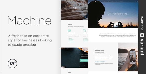 Machine Multi-Purpose HTML + Variant Page Builder - Creative Site Templates