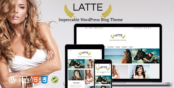 Latte - Responsive WordPress Blog Theme - Personal Blog / Magazine