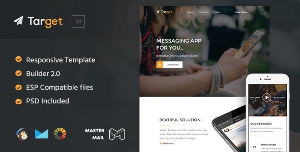 Target - HTML Email Template + Builder 2.0 - Email Templates Marketing