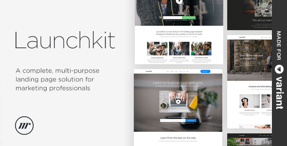Launchkit Landing Page, Variant Builder - Creative Landing Pages