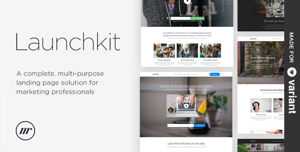 Launchkit Landing Page Variant Builder - Creative Landing Pages