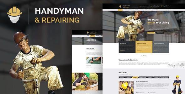 Handyman & Repairing - Construction and Craftsman HTML Template