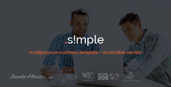 JM Simple - multipurpose business Joomla template + accessible version - Corporate Joomla