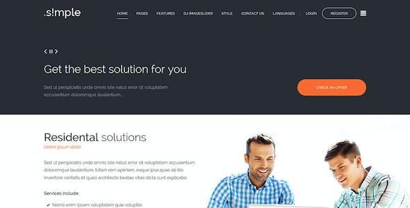 JM Simple - multipurpose business Joomla template + accessible version