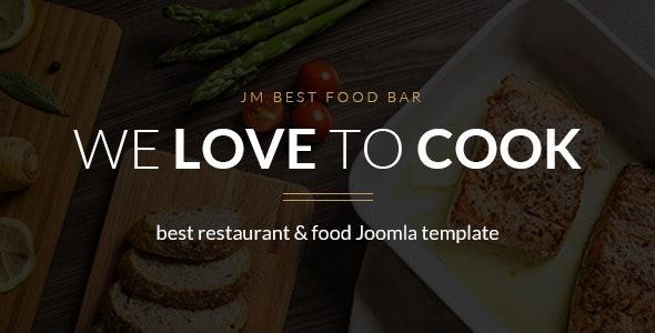 JM Best Food Bar - restaurant Joomla template - Food Retail
