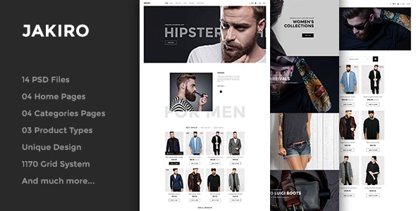 Jakiro - Fashion PSD Template - Fashion Retail