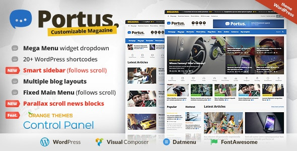 Portus - News Portal & Magazine WordPress Theme - Blog / Magazine WordPress