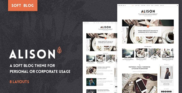 Anne Alison - Soft Personal Blog Theme