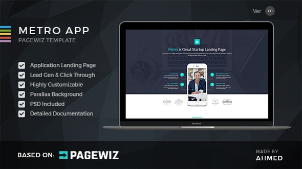Metro App - Pagewiz Landing Page - Pagewiz Marketing