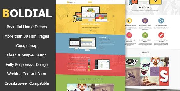 Boldial HTML - Flat Creative Theme - Creative Site Templates