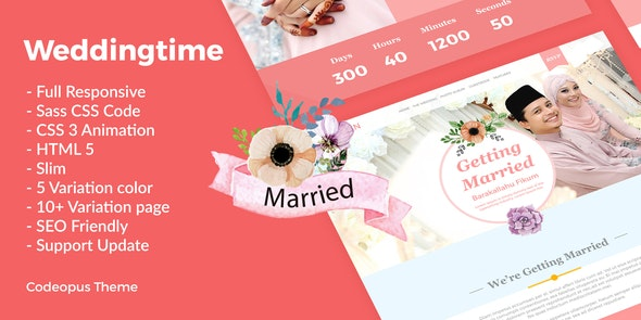 Wedding Time - Responsive Wedding Time Themes - Wedding Site Templates