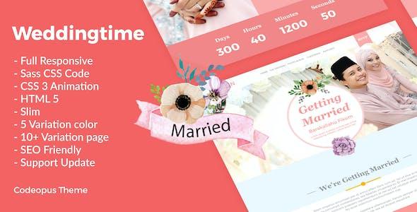 Wedding Time - Responsive Wedding Time Themes