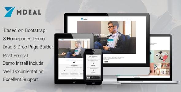 Mdeal - Responsive WordPress Theme - Experimental Creative