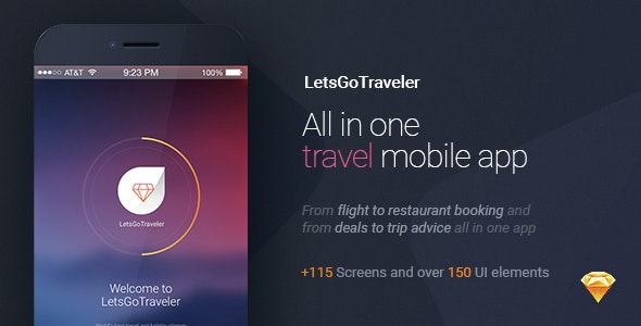 LetsGo Traveler | All in One Travel Sketch UI kit - Travel Retail