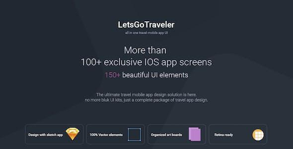 LetsGo Traveler | All in One Travel Sketch UI kit