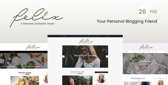 Felix – Personal Blogging PSD Template - Photoshop UI Templates