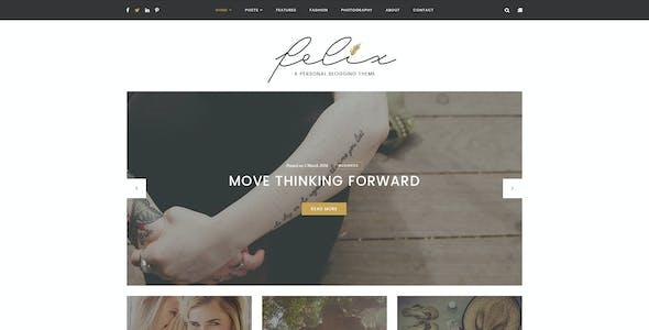 Felix – Personal Blogging PSD Template