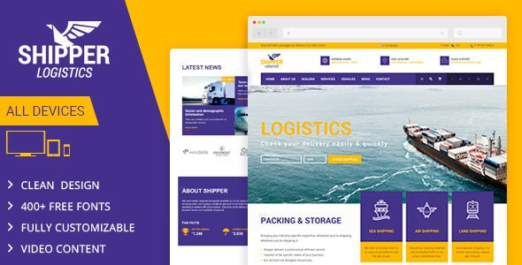 Shipper Logistic - Transportation Muse Template - Corporate Muse Templates