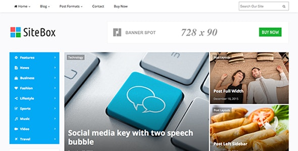 SiteBox - Responsive WordPress Magazine Theme - Blog / Magazine WordPress