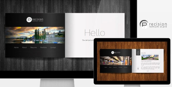 Precision - Premium vCard - Personal Site Templates