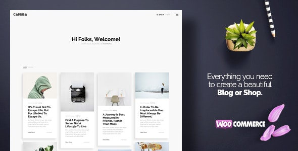 Caprisa - Personal WordPress Blog & Shop WooCommerce Theme - Personal Blog / Magazine