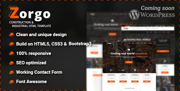 Zorgo Construction & Industrial HTML template - Business Corporate